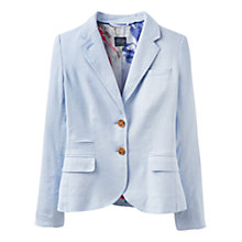 Buy Joules Caltha Linen Mix Blazer, Haze Blue Online at johnlewis.com