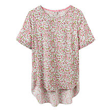 Buy Joules May Floral Print Top, Pink Ditsy Online at johnlewis.com