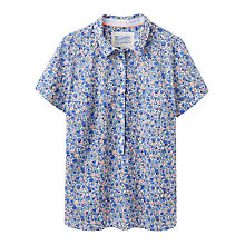 Buy Joules Jo Floral Print Shirt, Blue Ditsy Online at johnlewis.com