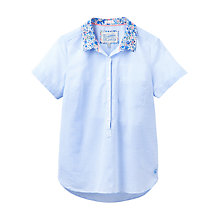 Buy Joules Jo Ditsy Floral Collar Shirt, Fine Blue Stripe Online at johnlewis.com