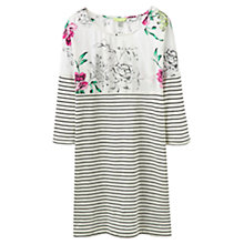 Buy Joules Peri Jersey Tunic Dress, Black Stripe Online at johnlewis.com