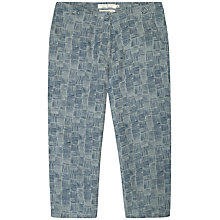 Buy Seasalt Lemongrass Cropped Linen Trousers, Glaze Lines Cobble Online at johnlewis.com
