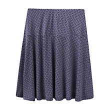 Buy Joules Hailey Printed Jersey Skirt, Navy Anchor Geo Online at johnlewis.com