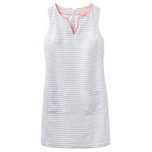Buy Joules Lena Linen Dress, Bright White Stripe Online at johnlewis.com