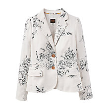Buy Joules Caltha Linen Mix Blazer, Cream Floral Online at johnlewis.com