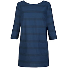 Buy Seasalt Heath Moss Tunic Dress, Bold Breton Marine Online at johnlewis.com