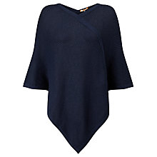 Buy BOSS Orange Wineanda Poncho, Dark Blue Online at johnlewis.com