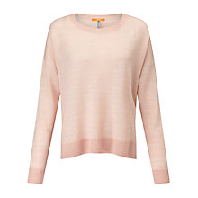 Buy BOSS Orange Winella Textured Jumper, Bright Pink Online at johnlewis.com