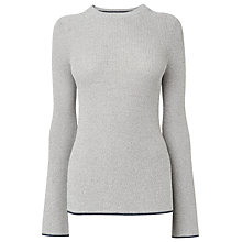 Buy Whistles Fluted Sleeve Jumper, Grey Marl Online at johnlewis.com