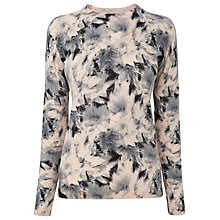 Buy Whistles Suki Floral Crew Neck Jumper, Nude/Multi Online at johnlewis.com