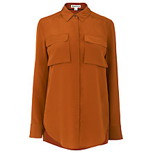 Buy Whistles Military Silk Shirt, Rust Online at johnlewis.com