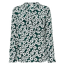 Buy Whistles Daisy Print Blouse, Green/Multi Online at johnlewis.com
