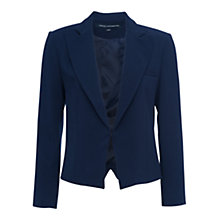 Buy French Connection Rikki Crepe Blazer, Nocturnal Online at johnlewis.com