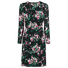 Buy Whistles Freesia Print Bodycon Dress, Black/Multi Online at johnlewis.com