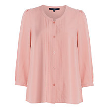 Buy French Connection Empire Dot Embroidered Blouse, Rose Tan Online at johnlewis.com