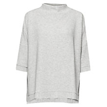 Buy French Connection Sudan Marl Ribbed Top, Grey Online at johnlewis.com