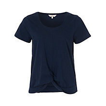 Buy French Connection Tie Up Short Sleeve T-Shirt, Nocturnal Online at johnlewis.com