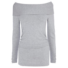 Buy Coast Cecilia Bardot Knit Top, Grey Online at johnlewis.com