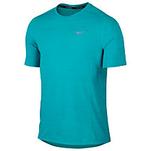 Buy Nike Dri-FIT Cool Relay Running T-Shirt, Blue Online at johnlewis.com