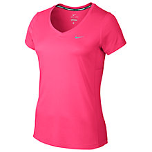 Buy Nike Dry Miler Short Sleeve V-Neck Running Top Online at johnlewis.com