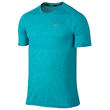 Buy Nike Dri-FIT Running T-Shirt, Omega Blue Online at johnlewis.com