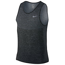 Buy Nike Dri-FIT Knit Running Tank, Cool Grey/Black Online at johnlewis.com