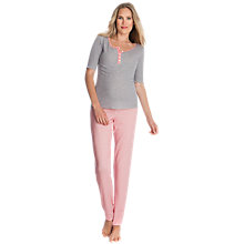 Buy Séraphine Sweetheart Maternity Nursing Pyjamas, Coral/Grey Online at johnlewis.com