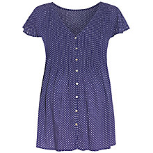 Buy Séraphine Claudia Polka Dot Maternity Blouse, Blue/White Online at johnlewis.com