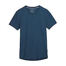 Buy J. Lindeberg Axtell Basic Crew Neck Jersey Cotton T-Shirt, Steel Blue Online at johnlewis.com
