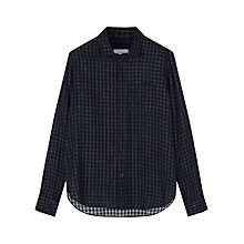 Buy Jigsaw Double Indigo Gingham Slim Fit Shirt, Blue Online at johnlewis.com