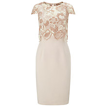 Buy Phase Eight Juno Lace Bodice Dress, Cameo Online at johnlewis.com