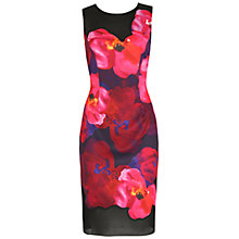 Buy Belle by Badgley Mischka Poppy Sheath Dress, Black/Red Online at johnlewis.com