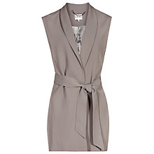 Buy Reiss Karmine Fluid Sleeveless Jacket, Stone Online at johnlewis.com