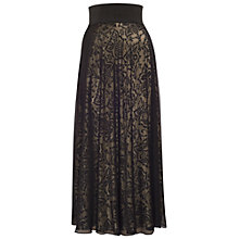 Buy Chesca Devore Mesh Maxi Skirt, Black/Gold Online at johnlewis.com