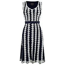 Buy Phase Eight Chessy Lace Dress, Navy/White Online at johnlewis.com