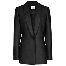 Buy Reiss Sera Textured Blazer, Black Online at johnlewis.com