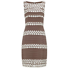 Buy Phase Eight Simone Layered Dress, Praline/Cream Online at johnlewis.com