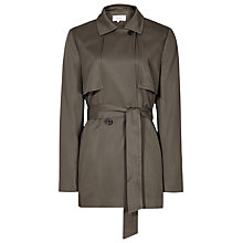 Buy Reiss Relaxed Belted Mac Jacket, Pine Online at johnlewis.com