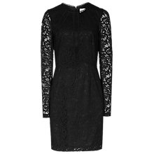 Buy Reiss Lace Bodycon Dress, Pitch Black Online at johnlewis.com