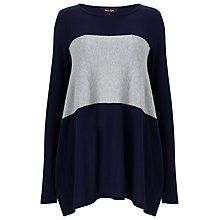 Buy Phase Eight Caroline Colour Block Top, Navy/Grey Marl Online at johnlewis.com