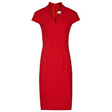 Buy Reiss Valeria Capped Sleeve Dress, Ruby Online at johnlewis.com