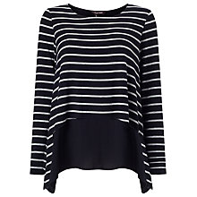 Buy Phase Eight Ciera Layered Striped Top Online at johnlewis.com