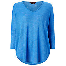 Buy Phase Eight Phillipa Jersey Top, Cornflower Online at johnlewis.com