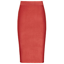 Buy Reiss Steva Knitted Pencil Skirt, Paprika Online at johnlewis.com