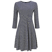 Buy Phase Eight Yasmin Geo Print Dress, Black/Stone Online at johnlewis.com