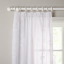 Buy John Lewis Cow Parsley Embroidery Pencil Pleat Voile Panel Online at johnlewis.com