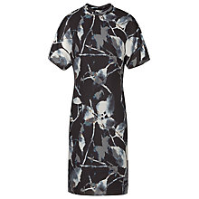 Buy Reiss Printed Drape Dress, Midnight Online at johnlewis.com