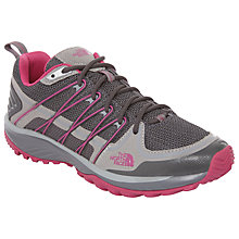 Buy The North Face Litewave Explore Women's Walking Shoes, Grey/Pink Online at johnlewis.com
