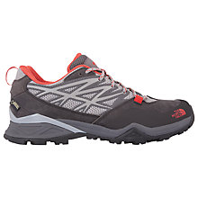 Buy The North Face Hedgehog Hike Goretex Women's Walking Shoes, Grey/Red Online at johnlewis.com