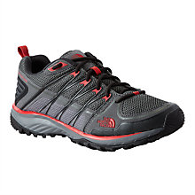 Buy The North Face Mens' Litewave Explore Hiking Shoes, Grey/Red Online at johnlewis.com